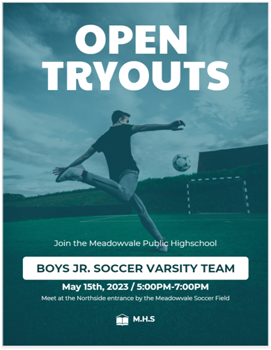 design a sports flyer and templates